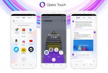 Opera predstavila Opera Touch: Novi mobilni browser specijalno dizajniran